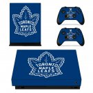Toronto Maple Leafs decal skin sticker for Xbox One X console and controllers