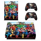 Super Heroes decal skin sticker for Xbox One X console and controllers
