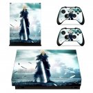 Final Fantasy 7 decal skin sticker for Xbox One X console and controllers
