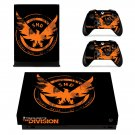 Tom Clancy's The Division decal skin sticker for Xbox One X console and controllers
