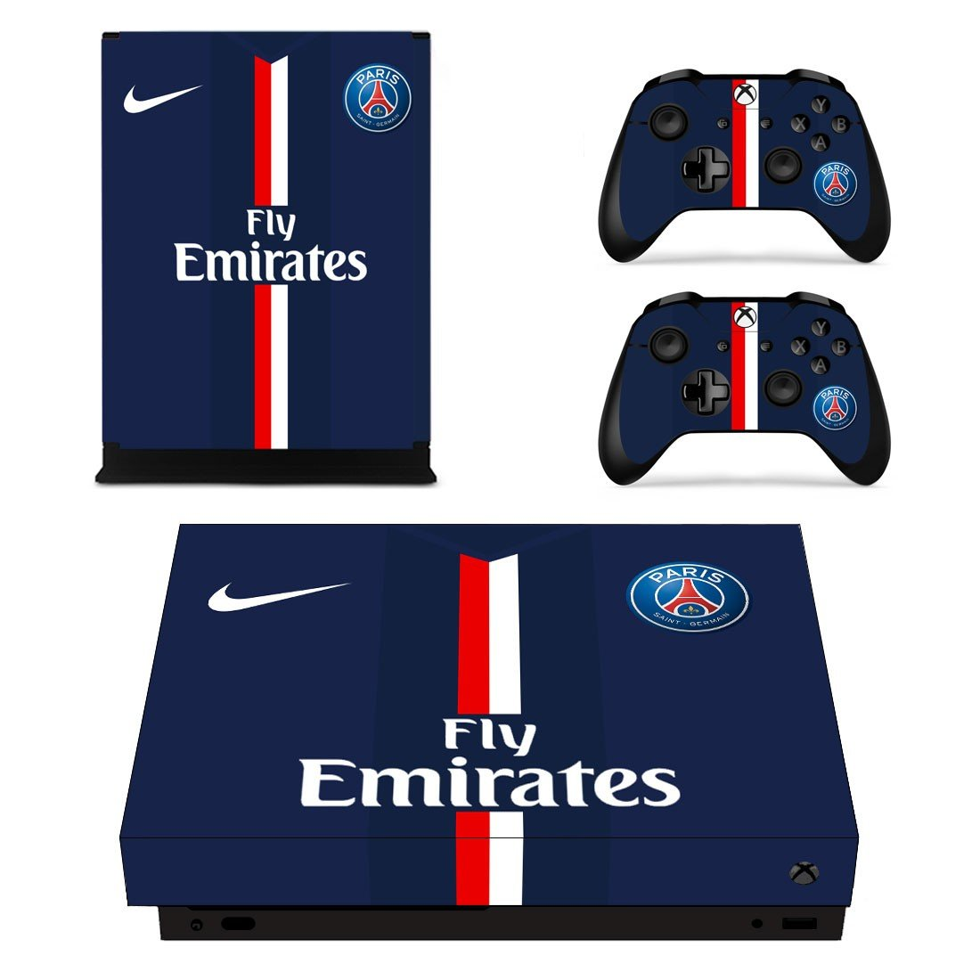 Fly Emirates decal skin sticker for Xbox One X console and controllers