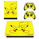 Pokemon go pikachu decal skin sticker for Xbox One X console and controllers