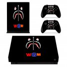 Bape Shark decal skin sticker for Xbox One X console and controllers