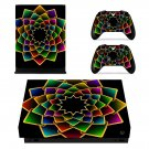 Floral Pattern decal skin sticker for Xbox One X console and controllers