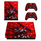 Metal Structure decal skin sticker for Xbox One X console and controllers