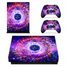 Floral Stars decal skin sticker for Xbox One X console and controllers