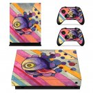 Trippy paintings decal skin sticker for Xbox One X console and controllers