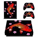 Floral fish decal skin sticker for Xbox One X console and controllers