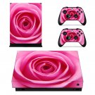 Nice Rose decal skin sticker for Xbox One X console and controllers