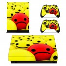 Emoji decal skin sticker for Xbox One X console and controllers