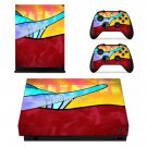 Ride the rainbows decal skin sticker for Xbox One X console and controllers