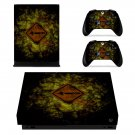Tech wallpaper decal skin sticker for Xbox One X console and controllers