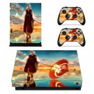 Anime water umbrella decal skin sticker for Xbox One X console and controllers