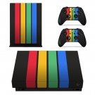Colorful Columns decal skin sticker for Xbox One X console and controllers