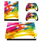 Painted Picture decal skin sticker for Xbox One X console and controllers
