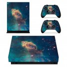 Space scene decal skin sticker for Xbox One X console and controllers