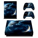 Galaxy Planet decal skin sticker for Xbox One X console and controllers