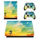 Painted Scene decal skin sticker for Xbox One X console and controllers