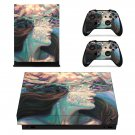 Lady Face decal skin sticker for Xbox One X console and controllers