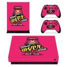 X game over decal skin sticker for Xbox One X console and controllers