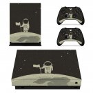Astronaut Clipart decal skin sticker for Xbox One X console and controllers