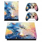 Painted Clipart decal skin sticker for Xbox One X console and controllers