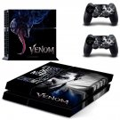 Venom decal skin sticker for PS4 console and controllers