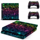 Pentagram light decal skin sticker for PS4 console and controllers