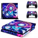 Artificial flower decal skin sticker for PS4 console and controllers