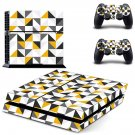 Traingle wallpaper decal skin sticker for PS4 console and controllers