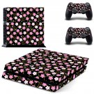 Floral Pattern decal skin sticker for PS4 console and controllers