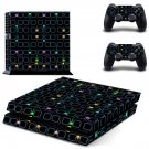 Tech wallpaper decal skin sticker for PS4 console and controllers