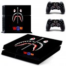 Bape Shark decal skin sticker for PS4 console and controllers