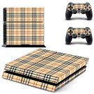 Tartan decal skin sticker for PS4 console and controllers