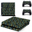 Pentagram decal skin sticker for PS4 console and controllers