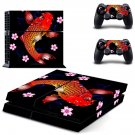 Floral fish decal skin sticker for PS4 console and controllers