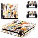 Cat face decal skin sticker for PS4 console and controllers