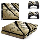 Music sheet decal skin sticker for PS4 console and controllers