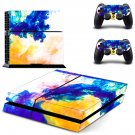 Colors flames decal skin sticker for PS4 console and controllers