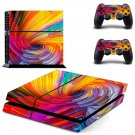 Spiral pattern decal skin sticker for PS4 console and controllers