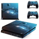 Galaxy Planet decal skin sticker for PS4 console and controllers