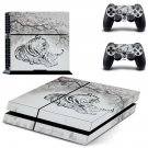 Tiger Clipart decal skin sticker for PS4 console and controllers