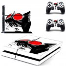 Cat Woman decal skin sticker for PS4 console and controllers