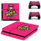 X game over decal skin sticker for PS4 console and controllers