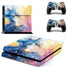 Painted Clipart decal skin sticker for PS4 console and controllers