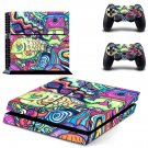 Hippie wallpaper decal skin sticker for PS4 console and controllers