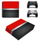 Metal floor decal skin sticker for PS4 Pro console and controllers