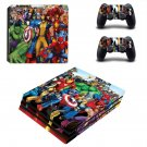 Super Heroes decal skin sticker for PS4 Pro console and controllers