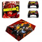 Borderlands 2 decal skin sticker for PS4 Pro console and controllers