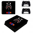 Bape Shark decal skin sticker for PS4 Pro console and controllers